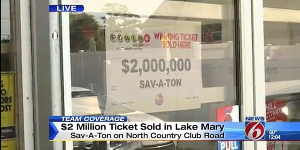 Lucky teenager becomes $2 million dollars richer.