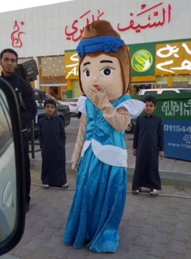 This mascot was arrested by Saudi's morality police for wearing a costume depicting a woman showing skin in an apparent breach of the country's strict Islamic dress code